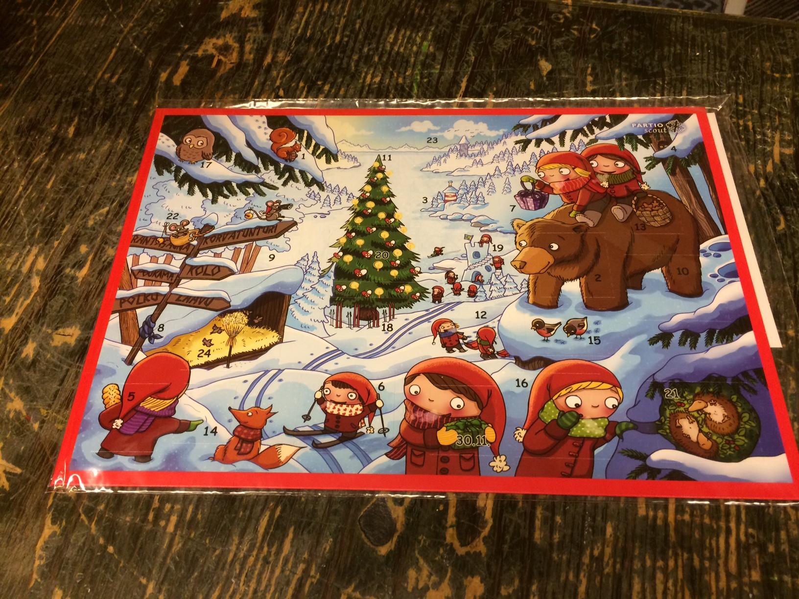 partiolaisten joulukalenteri Ruotsista löydetty sukellusvene oikeasti partiolaisten  partiolaisten joulukalenteri